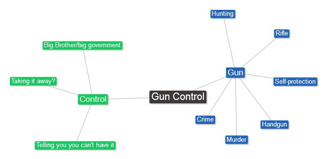 "The phrase ""gun control"" limits debate too narrowly and brings to mind Big Brother."