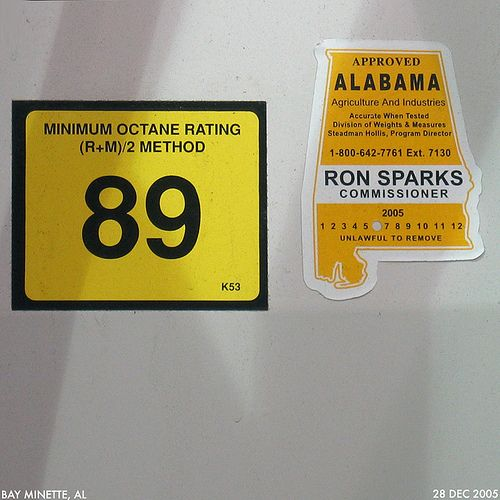 Gas Pump inspection label